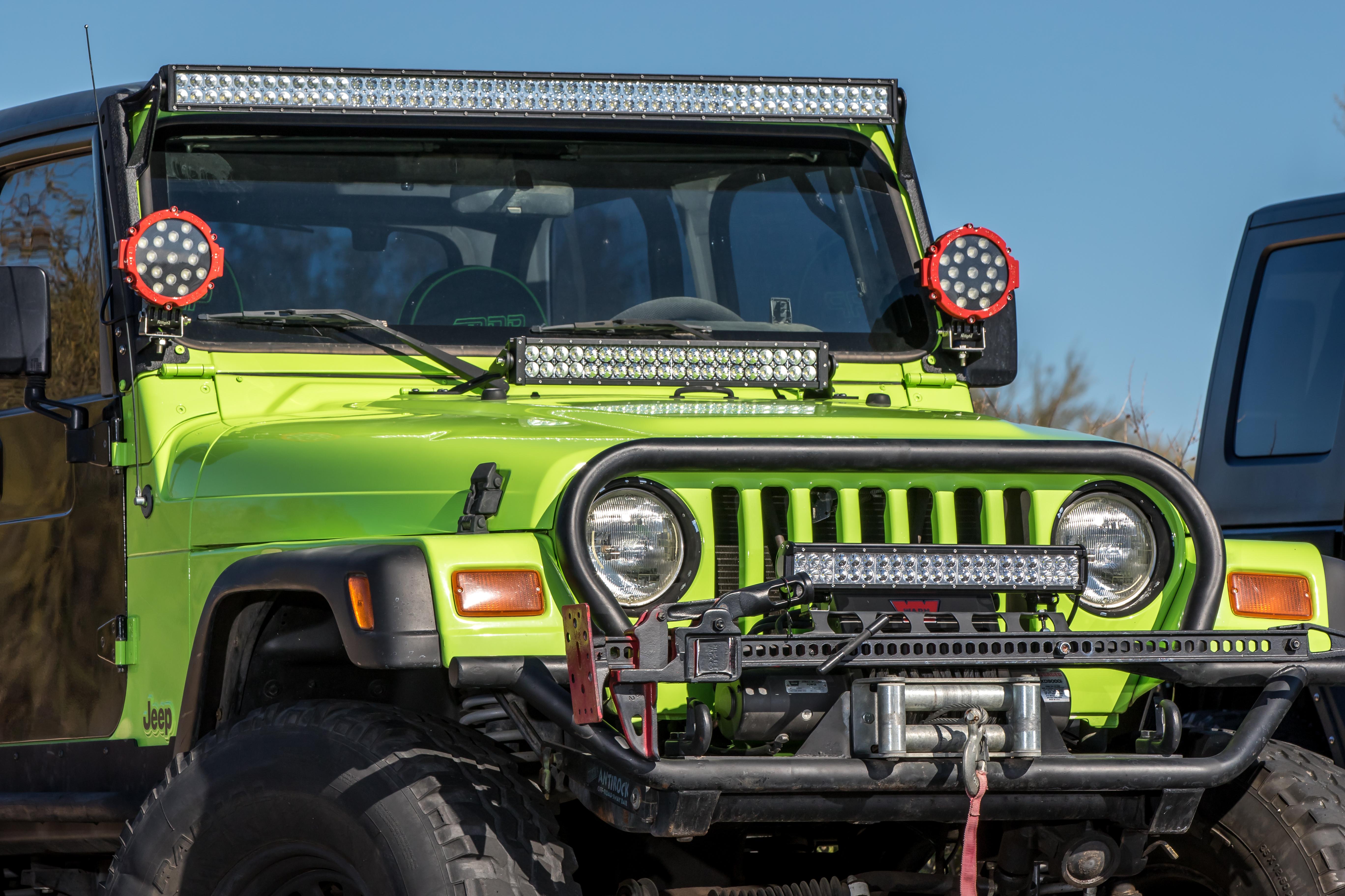 jeep tj 22 inch hood bracket  u2013 got led